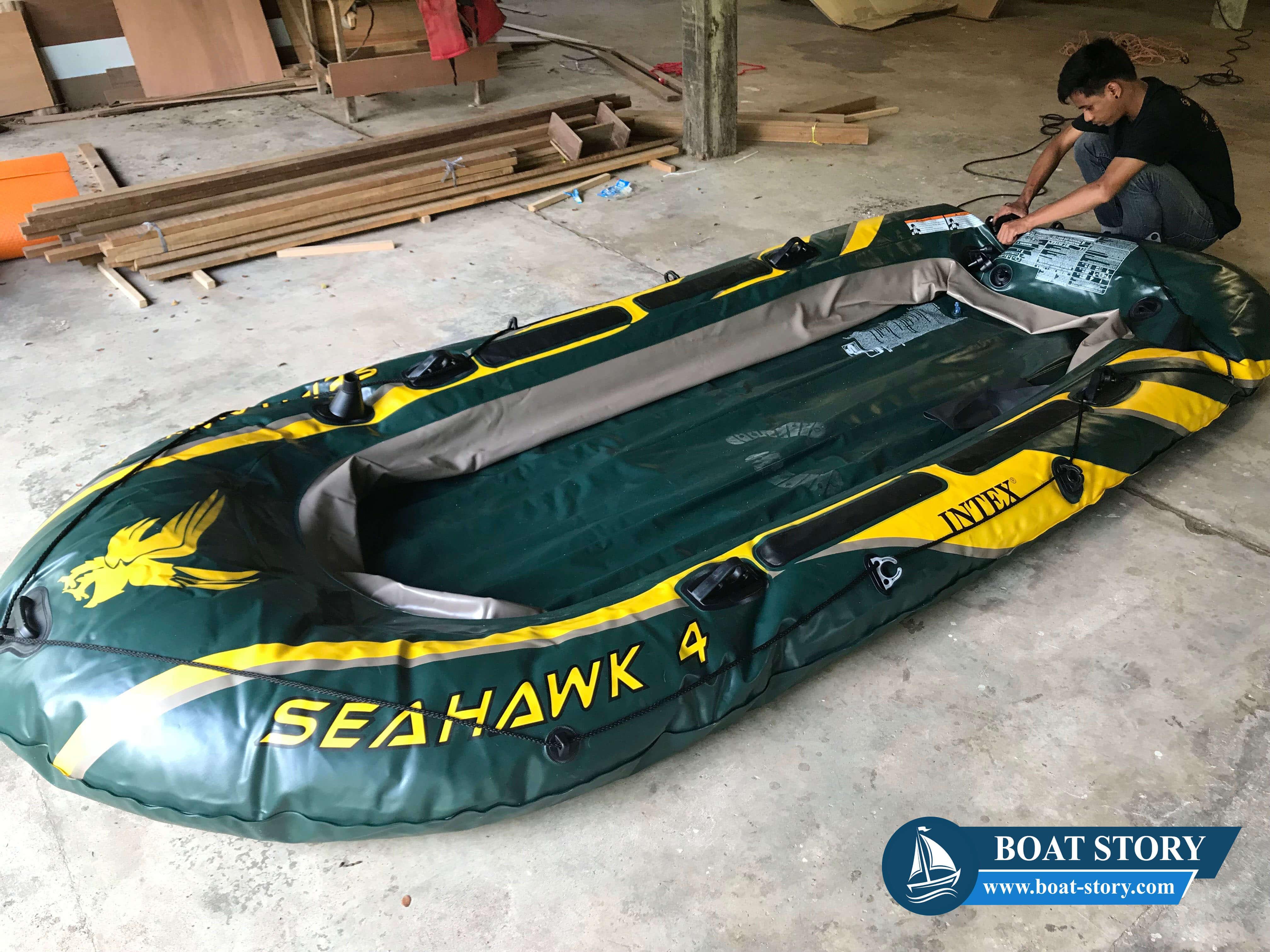 รีวิวเรือยาง Intex Seahawk 4 002